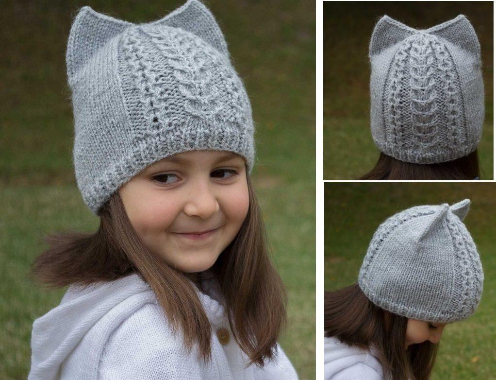 Вязаная шапочка для девочек своими руками фото 801