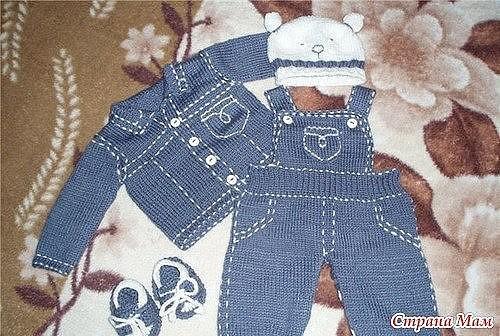Вязаные «джинсы» для малыша (Вязание спицами) — Журнал ...