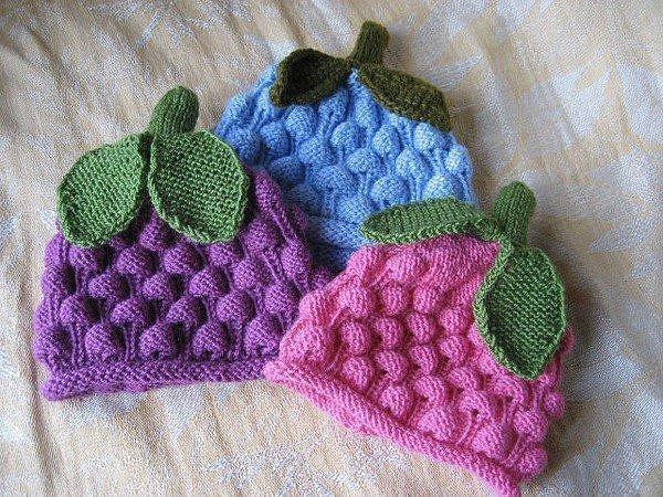 забавные детские шапочки вязание спицами журнал