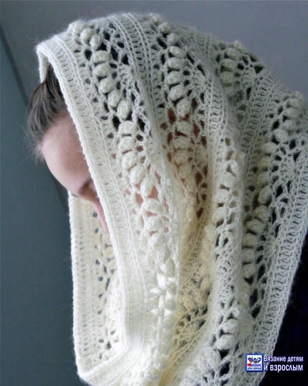 вязание шарф снуд схемы описание