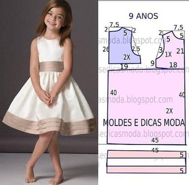 357d01112b5 Выкройки платьев для девочек 8-9 лет (Шитье и крой) – Журнал ...