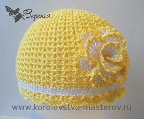 летняя шапочка крючком для девочки вязание крючком журнал