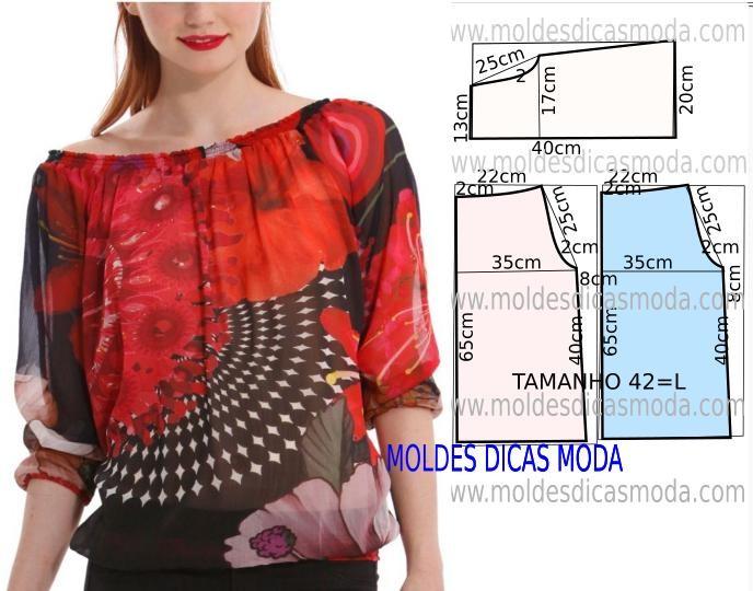 d5d4435a8e8 Простые выкройки блузок (Шитье и крой) – Журнал Вдохновение Рукодельницы