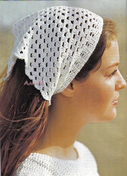 Подборка схем для вязания летних косынок (Вязание крючком)
