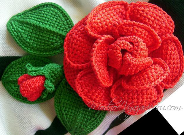 шикарные розы тунисским вязанием вязание крючком журнал