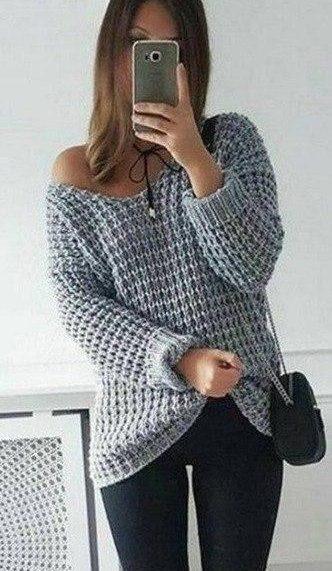 Крупный узор. Отличный вариант для пуловера (УЗОРЫ СПИЦАМИ)