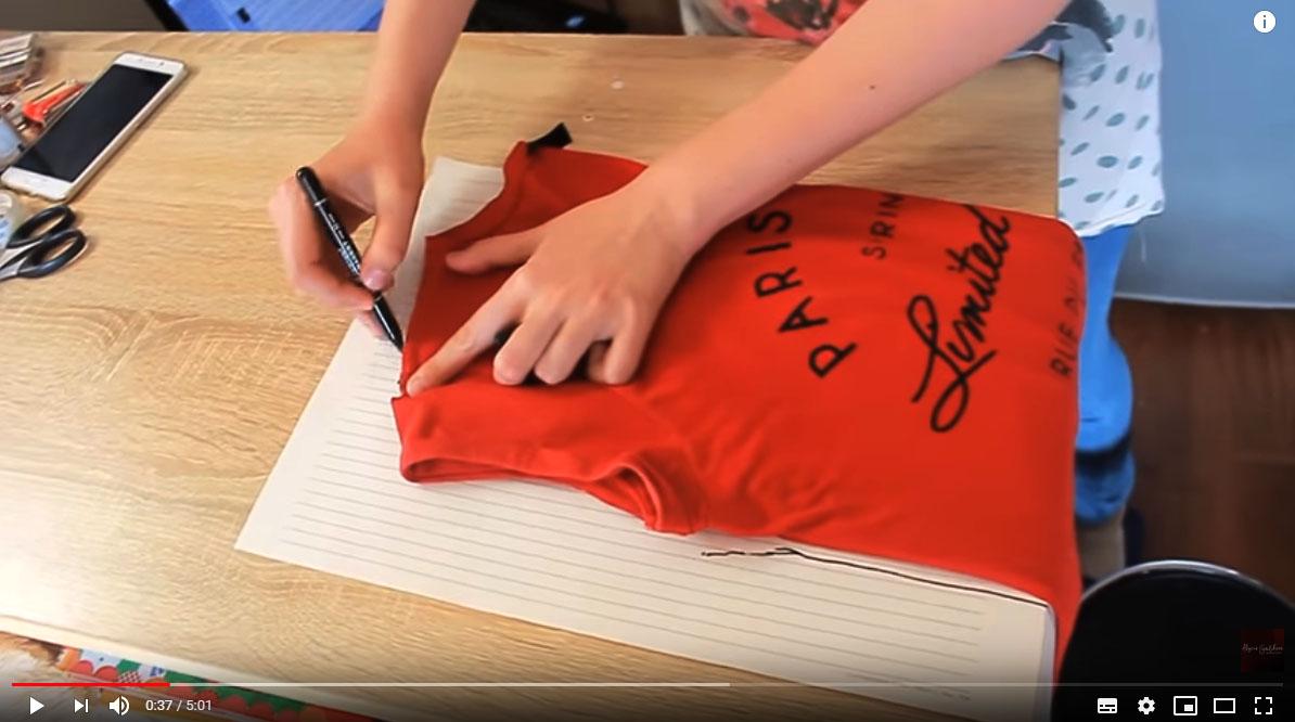 Как сшить футболку с цельнокроеным рукавом за час (Шитье и крой)