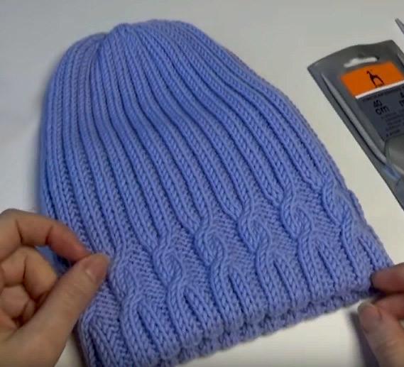 Двойная шапка бини спицами (Уроки и МК по ВЯЗАНИЮ)