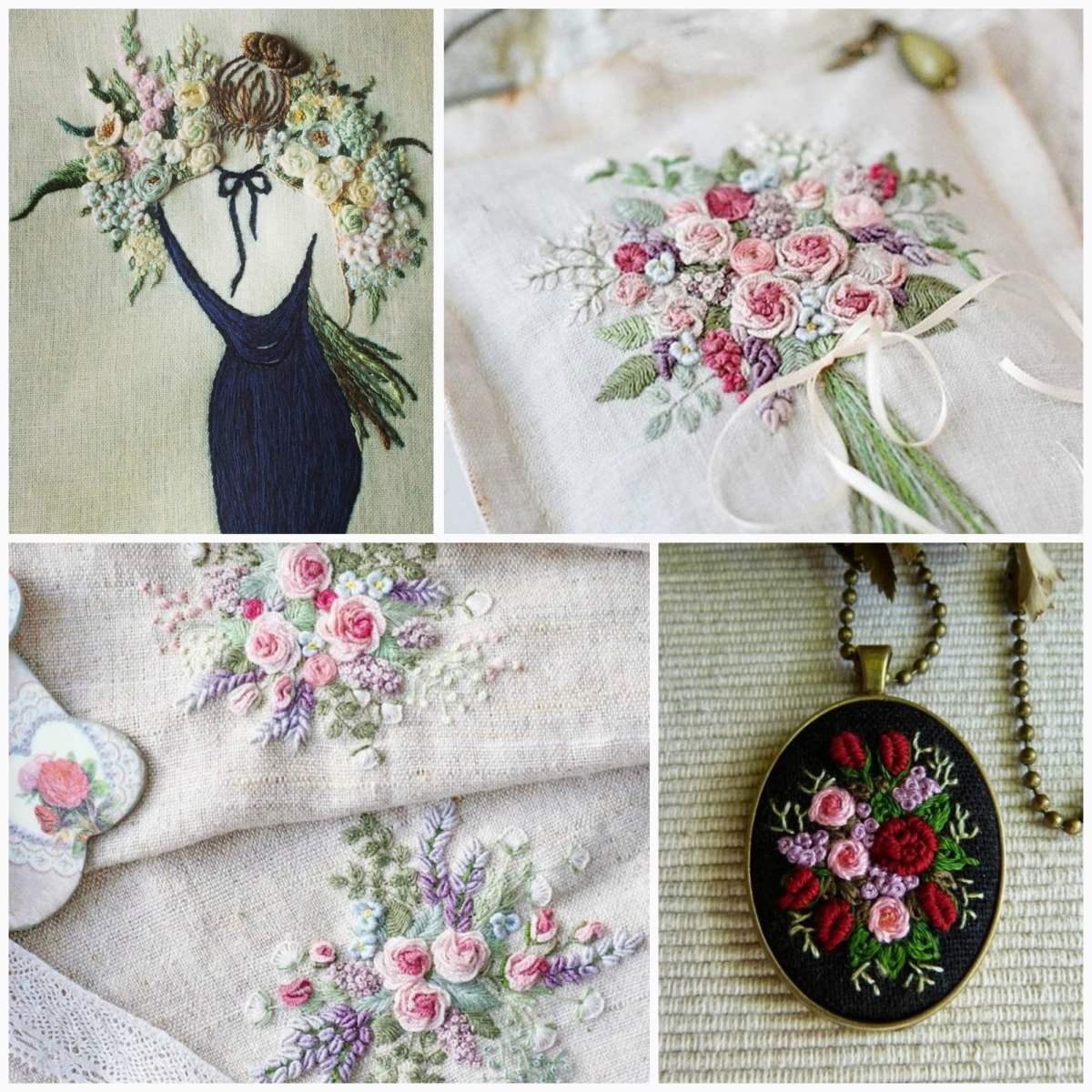 Красота шва рококо в вышивке (Вышивка)