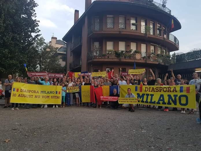Protest la Milano