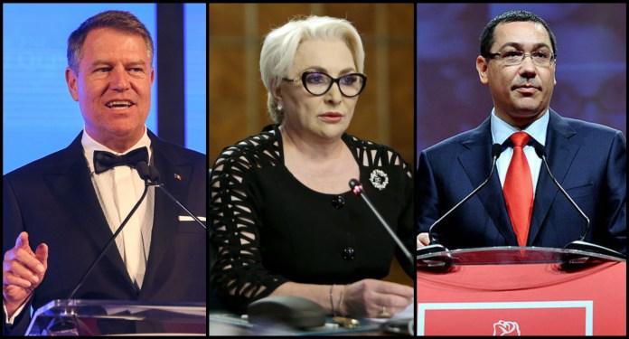 Klaus Iohannis, Viorica Dancila, Victor Ponta