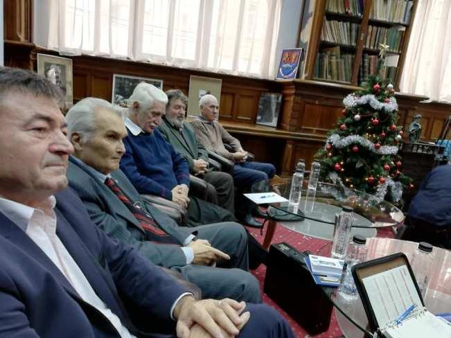 """Marcu Mihai (al doilea din stânga), informatorul Securității comuniste, la lansarea cărții """"Celula O"""""""