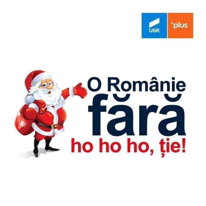 """Altă variantă ironică a sloganului """"O Românie fără hoție"""""""