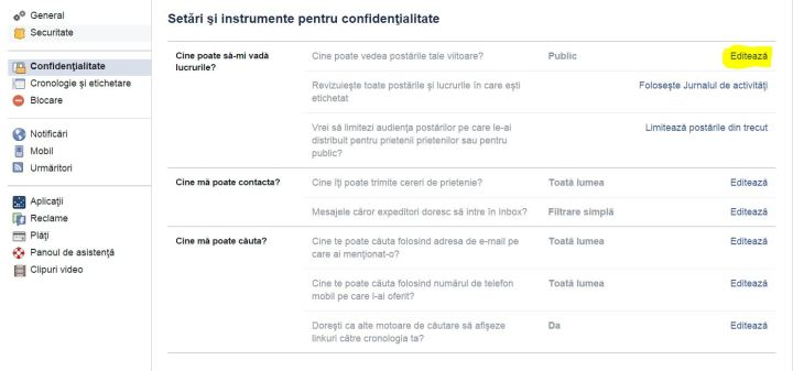 facebook confidentialitate 2