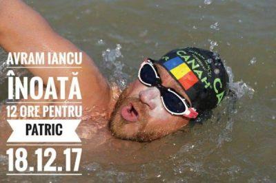 Avram Iancu, înoată 12 ore în scop caritabil, la Petroșani