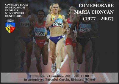Atleta Maria Cioncan, comemorată duminică la Hunedoara