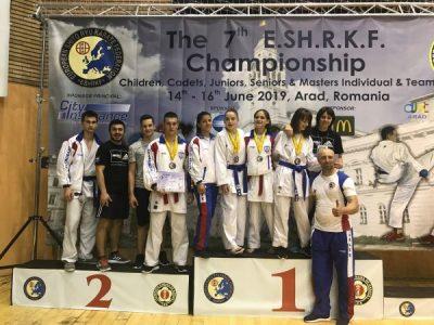 Aur, argint și bronz pentru karatiștii din Petroșani la Campionatul European de la Arad