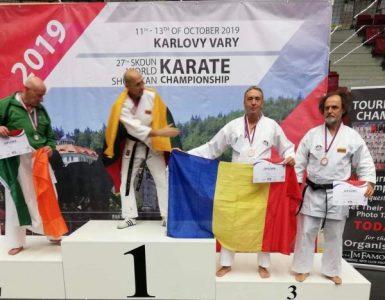 Jandarm hunedorean, pe podium la Campionatul Mondial de Karate SKDUN