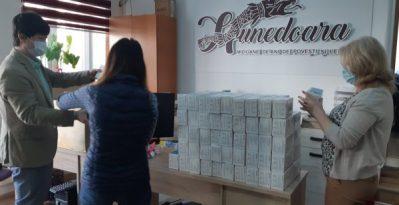 Donație de măști din China pentru instituții aflate în subordinea Consiliului Județean Hunedoara