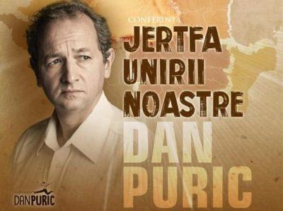 """Dan Puric, conferință despre """"Jertfa Unirii noastre"""", la Uricani"""