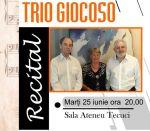 Trio Giocoso pe scena Ateneu Tecuci
