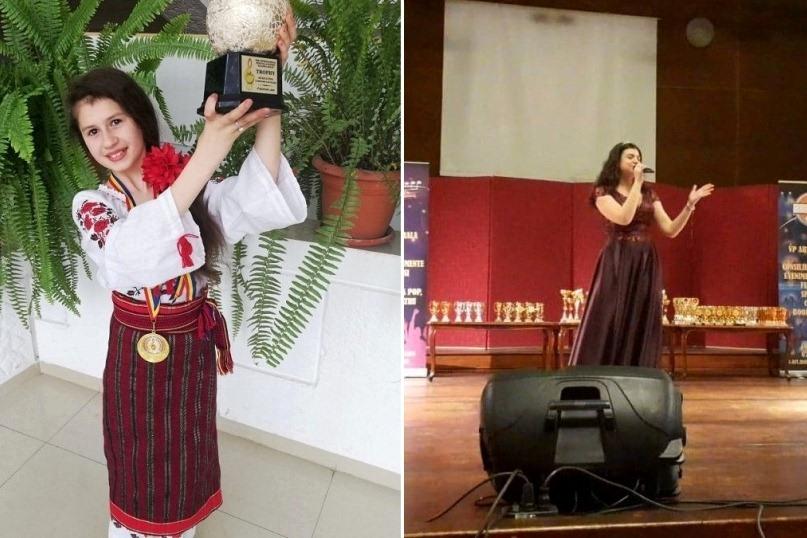 """Crina Gabriela Ion şi Alesia Munteanu, câştigătoare ale trofeului la festivalul """"Moldova Music Fest"""" Bacău"""