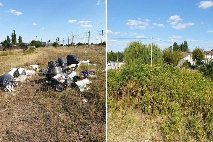 O imagine cât un întreg mandat: Ierburi cât casa şi gunoi aruncat la întâmplare