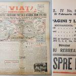 Viața, ziar vechi 21 februarie 1944, Sovietele isi fac drum spre Indii, 4 pagini din 8, format A2