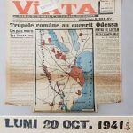 armata romana a cucerit Odessa, fragment ziarul Viata, 20 octombrie 1941, format 40x40cm – Kopi