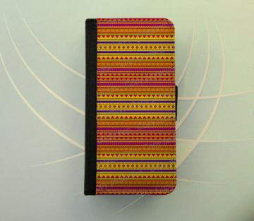 iPhone 4 5 wallet case Samsung Galaxy S3 S4 wallet, iPhone wallet, book style, Samsung iPhone 5, flip cover - Tribal aztec pattern