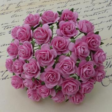 10mm Pink Roses, Set of 10
