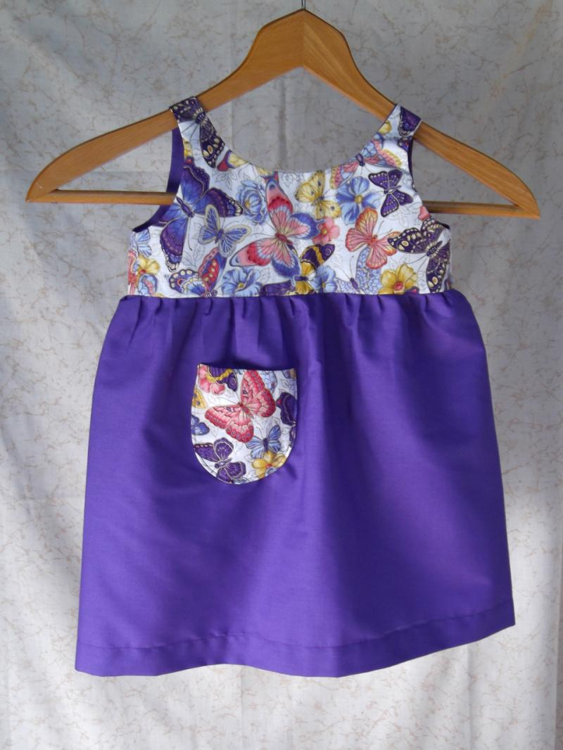 Purple Butterflies Jumper or Sundress