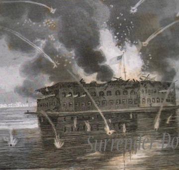 Civil War Fort Sumter Bombardment George Edward Perine by SurrenderDorothy