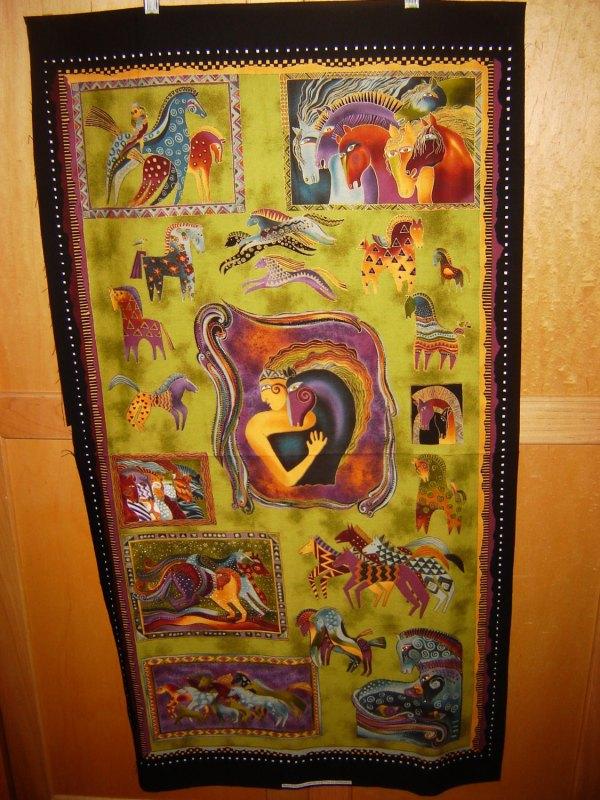 Laurel Burch Horse Fabric