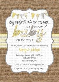 gender neutral baby shower invitations   Katiedid Designs