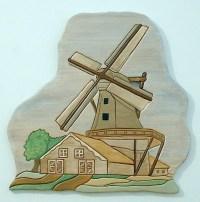 Wood Sculptured, Windmill, Wall Decor | GalleryatKingston