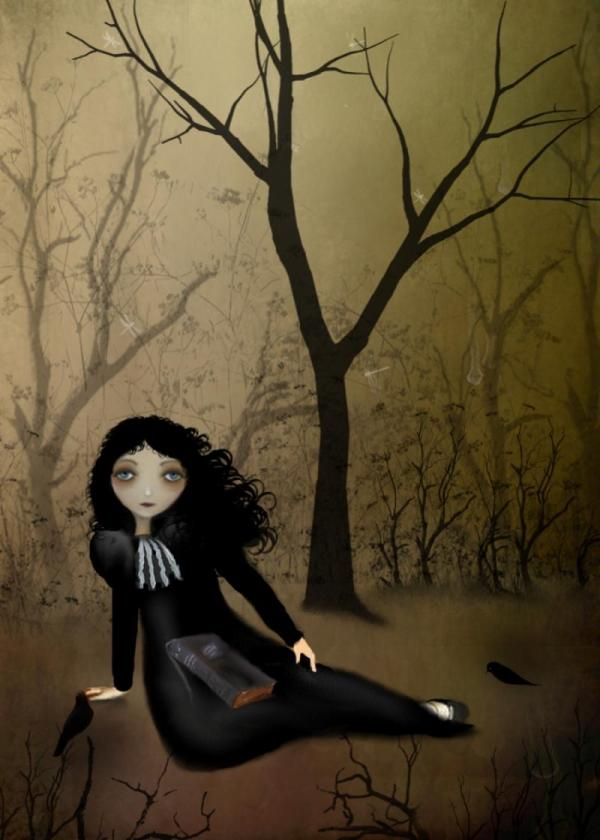 Goth Girl Art Melancholy Favorite Rusticgoth