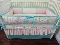 Custom Crib Bedding Set Brooklyn - Paisley by BabyBedding ...