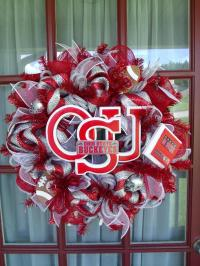 The Ohio State Buckeye Fan Sliver and Red | Crazyboutdeco