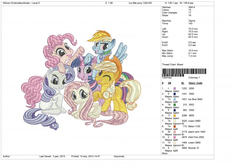 Embroidery Machine Design File My Little Onestitch4you
