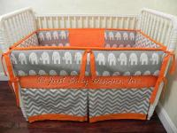 Custom Baby Bedding Set Gray Chevron Gray by BabyBedding