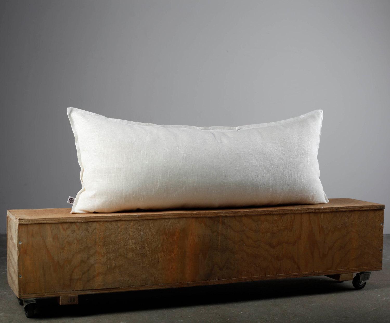 White lumbar pillow cover  pillows case   Pillowlink