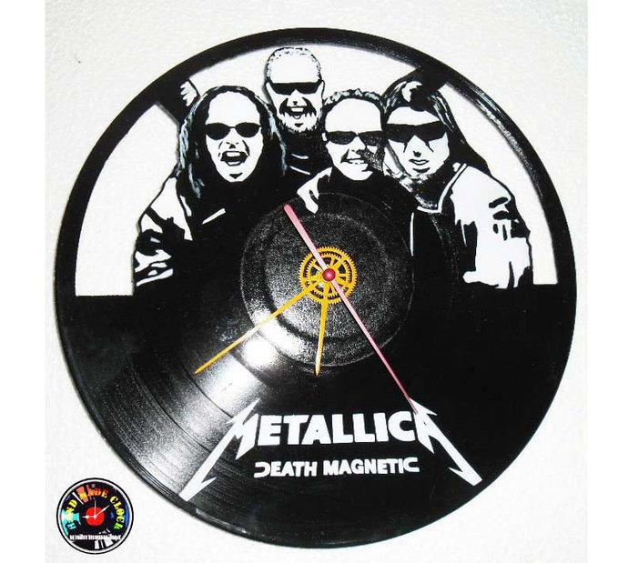 Vinyl Record Clock Handmade Recycled