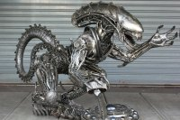 Large Alien metal sculpture table - metal table - by ...