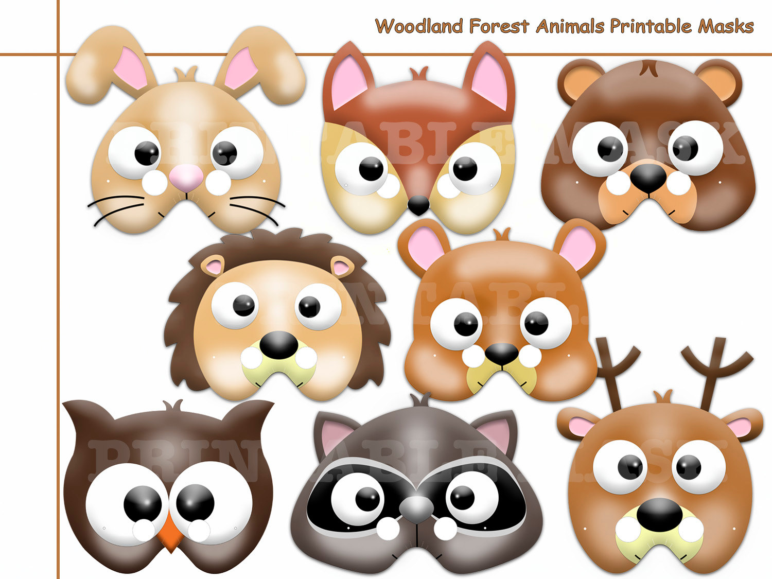 Unique Woodland Forest Animals Printable