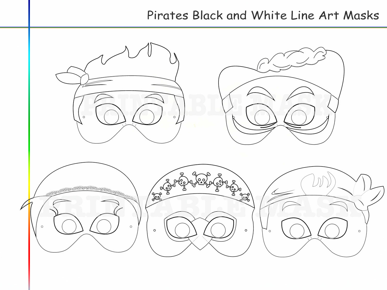 Free coloring pages of wolf red riding hood mask