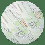 定額小為替証書の読み方と、現金化の方法。