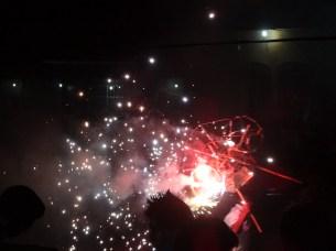 sparkles from fireworks bull