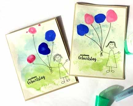 Eine pers nliche geburtstagskarte basteln schritt f r schritt bunter familienblog - Geburtstagskarte basteln kinder ...