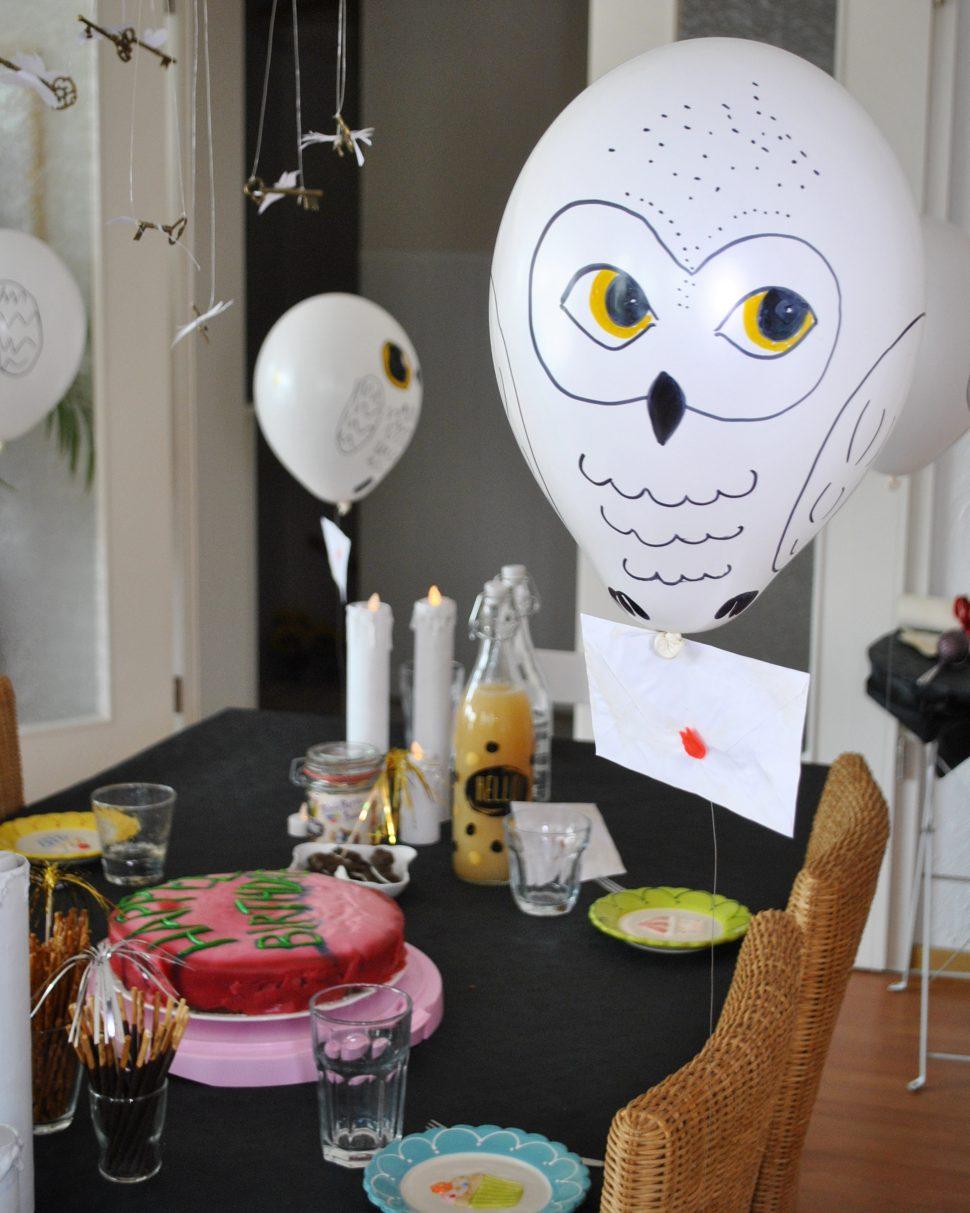 Ein zauberhafter harry potter geburtstag deko rezepte spiele bunter familienblog - Harry potter party deko ...